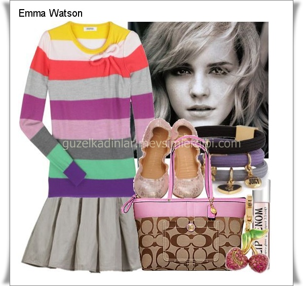 Emma Watsons Cute Styles Emmanın Şirin ve Sevimli Renkli Tarzı