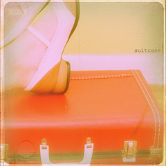 suitcase (daisy plus three) Tags: red texture shoes suitcase electrelane fluevogs bylesbrumes