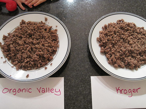 Kroger Ground Beef vs. Organic Prarie