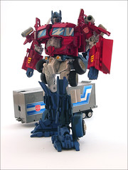 Optimus Prime Cartoon Style Robot Mode
