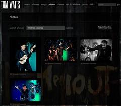 Tom Waits: il primo sito ufficiale con le mie foto e l'album in anteprima