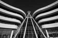 Wings (emertrem) Tags: bw 20d architecture curves wideangle symmetry regina saskatchewan teepee layered uwa sigma1020 fnuc firstnationsuniversityofcanada
