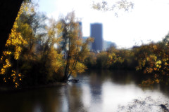 Mississippi River, Minneapolis, MN (theleakybrain) Tags: city river mississippi lens d70 minneapolis center plastic diana f dslr adaptor superwide dsc0710