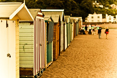 Vintage Huts (Komatoes) Tags: people beach vintage 50mm sand nikon huts devon teignmouth d40 nikond40