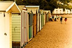 Vintage Huts (©Komatoes) Tags: people beach vintage 50mm sand nikon huts devon teignmouth d40 nikond40