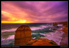 Australia 27 - Sunset Twelve Apostles II (pascalbovet.com) Tags: sunset australia greatoceanroad twelveapostles mywinners