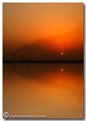 In My Dream (Pollution) (ibrahem N. ALNassar) Tags: seascape canon landscape eos 5 dream n pollution l 5d usm ef 1740mm f4 in ابراهيم الكويت alnassar my كانون anawesomeshot ibrahem التلوث النصار
