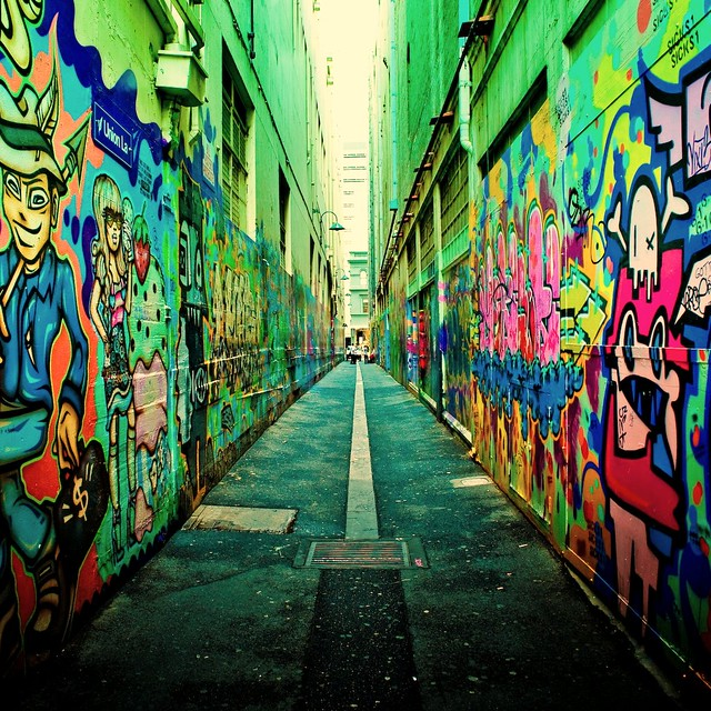 Cuba Gallery: Australia / melbourne / city / urban / graffiti lane / color / street photography