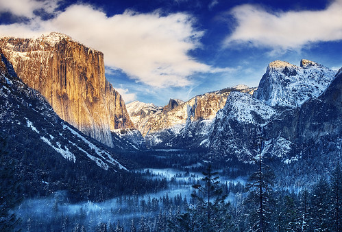 Winter Morning Sunrise Tunnel View Yosemite Valley - Yosemite National Park