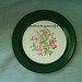 Taylor Smith Taylor 5532 Bread Plate Green Rim Floral Excellent Condition