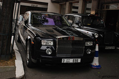 50 Cent's Rolls Royce Phantom !! (Yannick Vanhex aka Ghost) Tags: london car out nikon dubai cent famous hasselt kingdom windy rolls phantom 50 rapper locked coupe gunit royce supercars londen numberplates yannick drophead d80 vanhex united