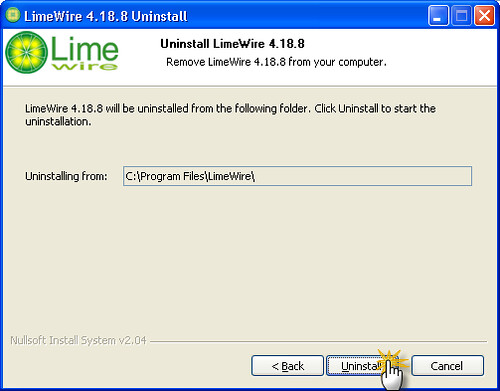 Uninstall Limewire