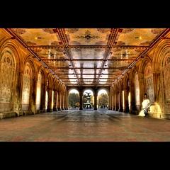 Bethesda Terrace Arcade in Central Park, NY (DP Photography) Tags: newyorkcity sculpture centralpark manhattan ceiling ornamental hdr bethesdafountain ceramictiles angelofwaters bethesdaterracearcade goldstaraward debashispradhan dpphotography centralparkarchitecture dp photography