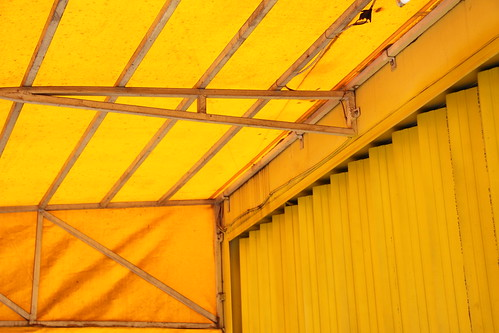photograph yellow abstract awning
