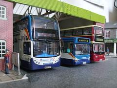 Stagecoach Devon (jeff.day48) Tags: pointer dennis diorama trident adl modelbus alx400 stagecoachdevon enviro400 t653kpu mx07hmf wa06hnl