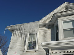 Icicles, with Obama window signs
