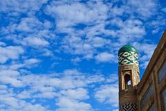 Uzbekistan-375 (Kelly Cheng) Tags: travel colour horizontal museum architecture daylight asia outdoor madrasah muslim culture vivid sunny bluesky unesco getty silkroad copyspace uzbekistan centralasia khiva kaltaminor ichonqala khorezm pickbykc