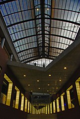 Antwerp Central Station (Chris P Dunn) Tags: roof light urban glass perspective lone antwerp pillars levels antwerpcentralstation