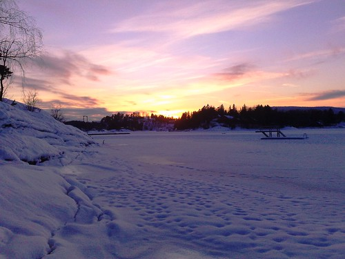 Winter Sunset on Calf Island in Norway #5