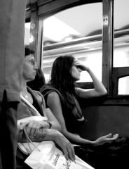 """mujer en el subte """"linea A"""" (gastonrmoreno) Tags: buenosaires triste subte soledad pensativa mujerensubte"""