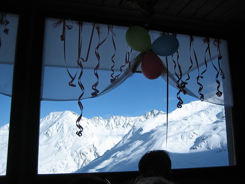 View at Lunch on Andermatt