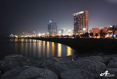 Gulf Street 2 (ZiZLoSs) Tags: street sea sky night canon eos gulf kuwait 1855mm aziz abdulaziz  450d zizloss  3aziz almanie photoziz peregrino27newvision