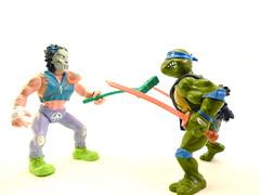 TMNT figures (Rob Blatt) Tags: actionfigures figure leonardo ninjas teenagemutantninjaturtles tmnt caseyjones miragestudios platmatestoys