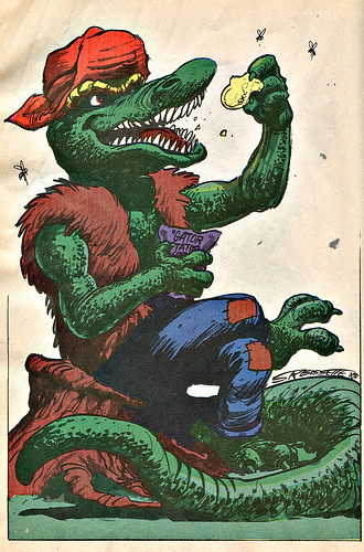 Mighty Mutanimals : INVASION FROM SPACE - Pin-up Gallery :: Leatherhead .. //  art by S.R. Bissette (( 1991 ))