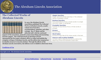 Collected Works of Abraham Lincoln cp sm