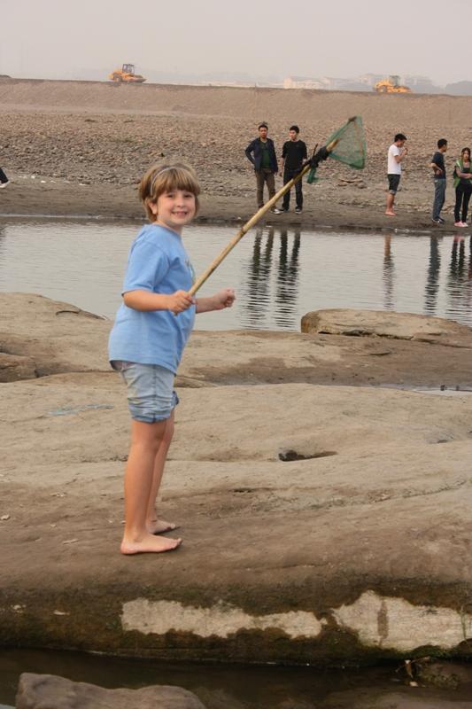 sprite catching tadpoles