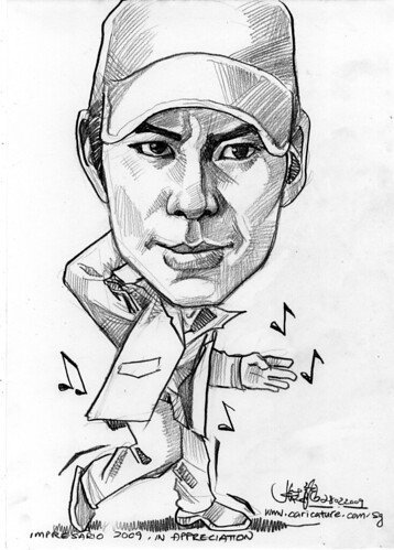 Caricature of Patrick Loo