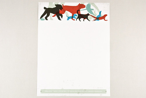 Veterinary Letterhead with Silhouetted Animals