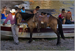 "Today on my Birthday I post: ""family time"" (uteart) Tags: horse mexico cowboy explore swimmers today mybirthday ajijic vaquero chapala familytime lagodechapala utehagen uteart explore042309"