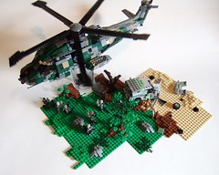Insertion (Aleksander Stein) Tags: lego military helicopter whirlwind ndc utilty eh191