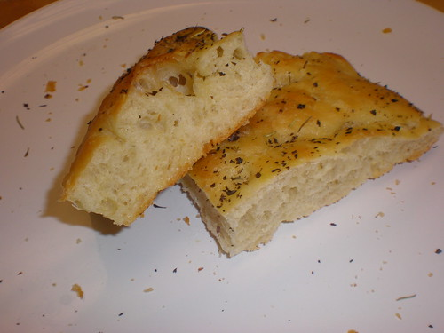 Really good focaccia made from Bread Bakers Apprentice