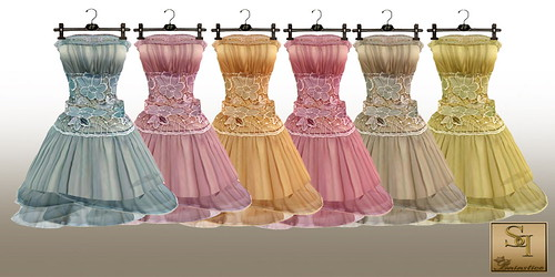 Baiastice_Organza dress with lace_COLORS