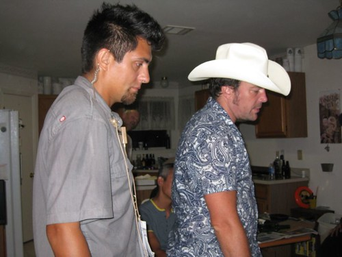 First Assistant Director Joseph Garza and Director/Writer Simon Rumley