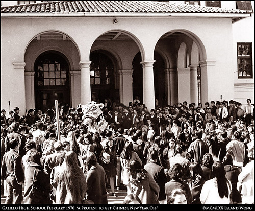 Lion Dance at Galileo High School 1970