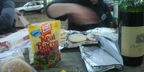 Campfire Pizza Making