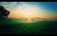 A New Dawn (isayx3) Tags: sky field fog clouds sunrise canon eos golden tennessee explore 24mm frontpage f28 lanscape sevierville 40d plainjoe isayx3
