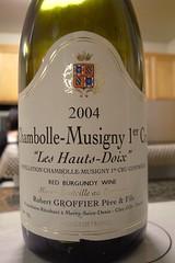 "2004 Domaine Robert Groffier, Chambolle-Musigny 1er Cru, ""Les Hauts-Doix"""