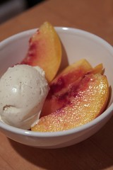 peaches and ice cream