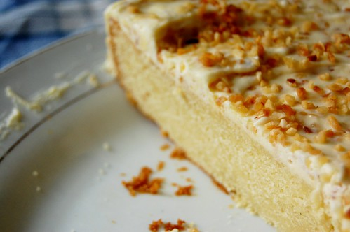 hazelnut white chocolate cake wedge