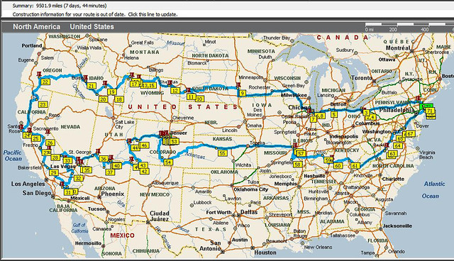 Complete Road-Trip Map and Stats