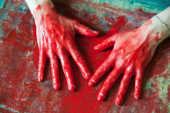 Les mains sales-41 (metatong) Tags: red color painting rouge blood hands acrylic hand main peinture killer murder dexter sang mains guilty murderer coupable acrylique tueur d300 redpaint meurtre meurtrier peinturerouge
