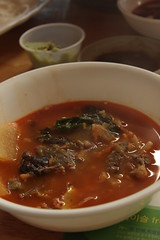 spicy kimchee and fish soup