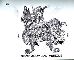 """Turtle Soup – Designs From The Classic TMNT Years""  the TMNT work of David Arshawsky :: Giant Army Ant Vehicle (( 199x ))"