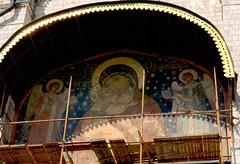 Mosca - Chiesa della Dormizione - lunetta (Alberto Cameroni) Tags: moscow madonna mosca diapositiva diapositive moskva mockba tenerezza