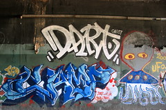 dart camp ufo (Luna Park) Tags: nyc camp ny newyork graffiti tracks tunnel ufo lunapark dart grunts trackside 907 tfp campstar