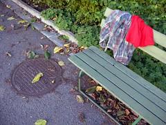 Dag sex (not_me_alright) Tags: news bench clothes leftovers arrange